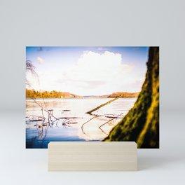 Cloudy Möhne Reservoir Lake 2 bright Mini Art Print