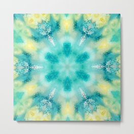 watercolor tie dye Metal Print