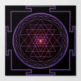 Ultraviolet Sri Yantra Canvas Print