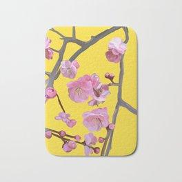 painted plum blossom yellow Bath Mat
