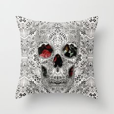 Lace Skull Light Throw Pillow
