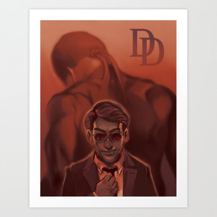 Red Light, Red Shadow Art Print