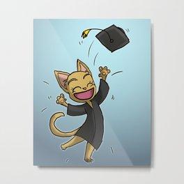 Graduate Cat Metal Print