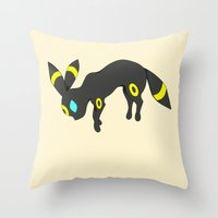 umbreon Throw Pillows featuring Umbreon by Ria Pi