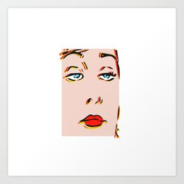 Resting Bitch Face, Pop art. Art Print