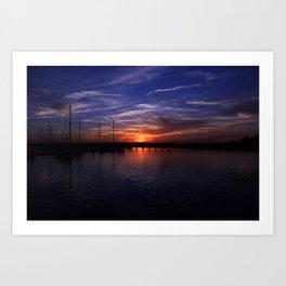 Summer ocean glow Art Print