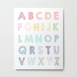 ABC Alphabet 091 6000 Metal Print