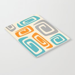 Mid Century Modern Cosmic Abstract 740 Orange Blue and Gray Notebook