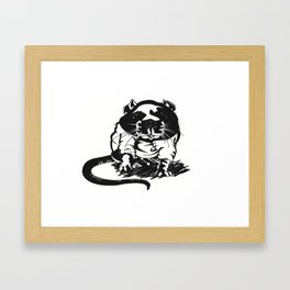 hood_rat Framed Art Print