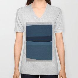 Modern Blue, Blue Painting, Blue Ombre Unisex V-Neck