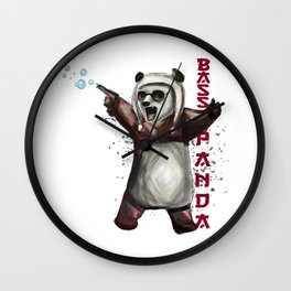 Bass Panda Wall Clock