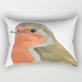 Geometric Robin artwork Bird Rectangular Pillow