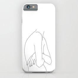 Figure line drawing illustration - Jem iPhone Case