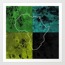 Tanzania III - Art In Support Of Kids 4 School Art Print