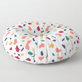 Modern abstract marble mozaic terrazzo pattern Floor Pillow