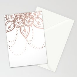 Rose Gold Chain Stationery Cards