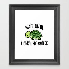 Turtle Coffee Framed Art Print