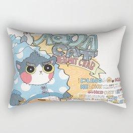 Aqua cat_Puno Rectangular Pillow