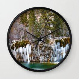 Hanging Lake Winter Wall Clock
