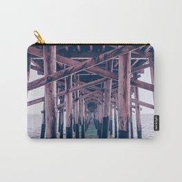 Balboa Pier Print {2 of 3} | Newport Beach Ocean Photography Magenta Summer Sun Wave Art Carry-All Pouch