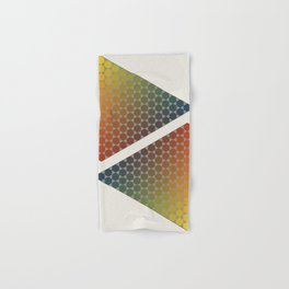 Lichtenberg-Mayer Colour Triangle vintage remake, based on Mayers' original idea and illustration Hand & Bath Towel