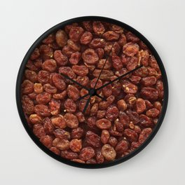 Cornelian cherries. Background. Wall Clock