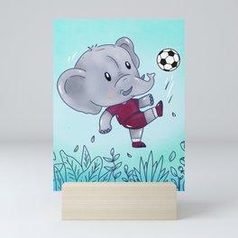Soccer Elephant Mini Art Print