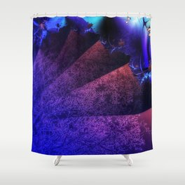 Pleated fantasy forest Shower Curtain