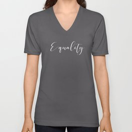 Equality (white) Unisex V-Neck