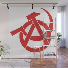 Anarcho-Communist Red Wall Mural