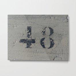 48 Metal Print