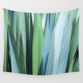 blue and green leaves Wall Tapestry