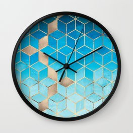 Sea And Sky Cubes (Custom Request) Wall Clock