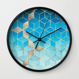 Sea And Sky Cubes (Custom Request) Wall Clock