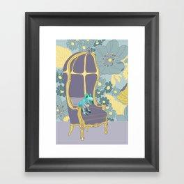 Dog in a chair #4 French Bulldog Framed Art Print