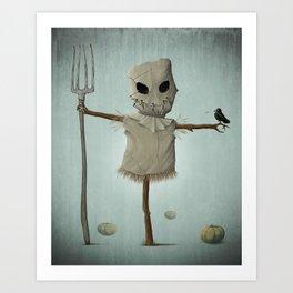 Halloween scarecrow Art Print