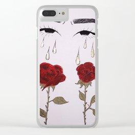 rosas y lagrimas Clear iPhone Case