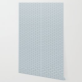 Light Blue Bricks on a Grey Background Wallpaper