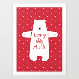Bear hugs Art Print