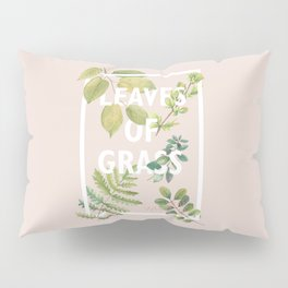 Leaves of Grass, Walt Whitman, book cover illustration, american poetry collection, flowers art Pillow Sham
