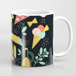 Italian food - Black chalkboard  Coffee Mug