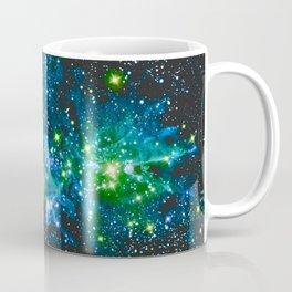 Fox Fur Nebula Teal Green Coffee Mug