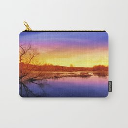 Tranquil Sunset Landscape Carry-All Pouch