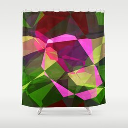 Rosas Moradas 1 Abstract Polygons 2 Shower Curtain