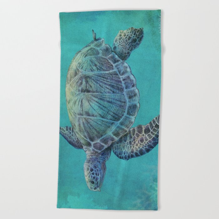 Deep Blue Beach Towel
