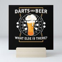 Darts And Beer - Darts Player Mini Art Print