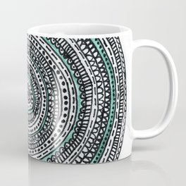 Mandala with a touch of pastel green Coffee Mug