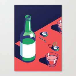 A night out in Seoul - Part 2 - Soju Time Canvas Print