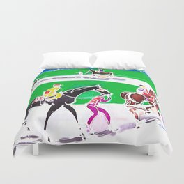 At the Races           by Kay Lipton Duvet Cover