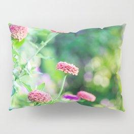 Zinnia Patch in Pink Pillow Sham